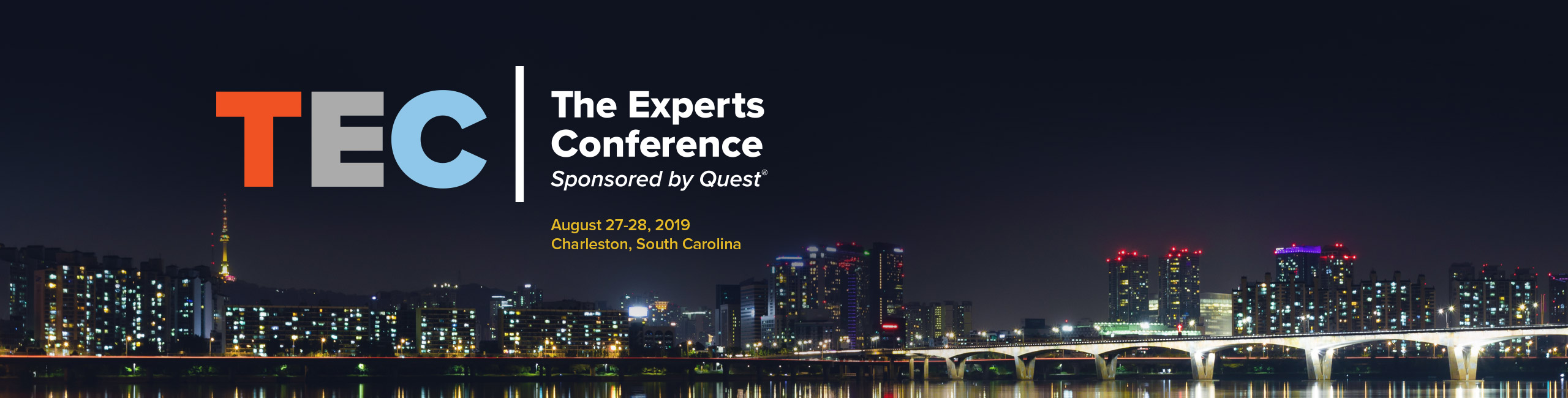 Join us for TEC: 2019 in timeless Charleston, SC for world-class training and networking.