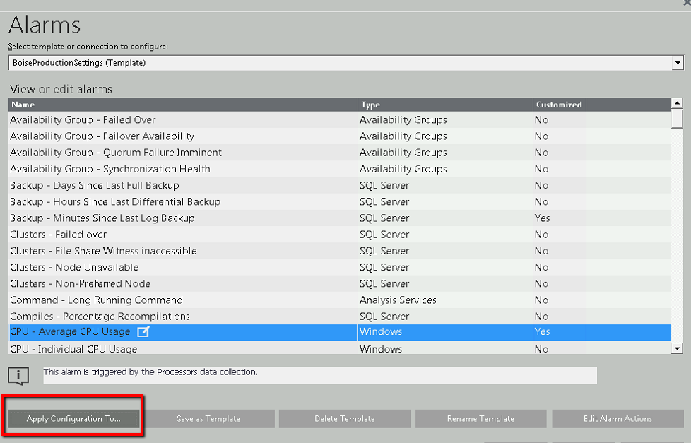 Ridiculously Easy Alarm Configuration in Spotlight on SQL Server ...