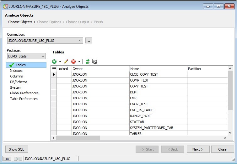 Screen shot of Analyze Objects new, easy-to-use workflow that is now supported in the Automation Designer in Toad for Oracle 13.2.