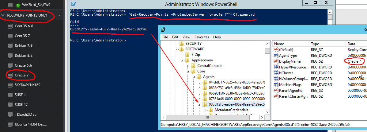 Converting Agent-based Servers to Agentless - Rapid Recovery