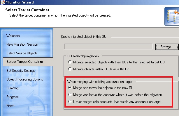 Migration - Duplicate Accounts with Merge Option - Migration