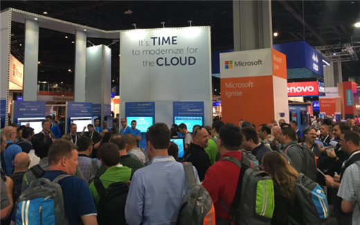 Huge Crowds at Booth 1210 at MS Ignite 2016