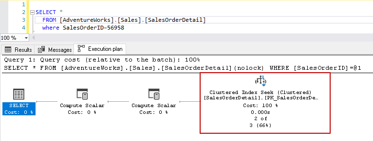 clustered index scan in SQL Server