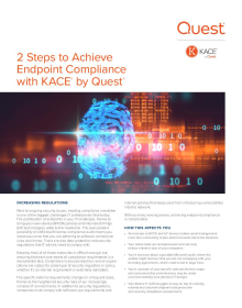 2 Steps to Achieve Endpoint Compliance with KACE