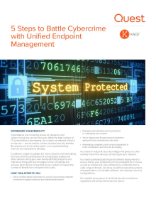 5 Steps to Battle Cybercrime with Unified Endpoint Management
