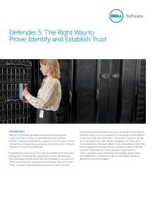 Defender - The Right Way to Prove Identity and Establish Trust