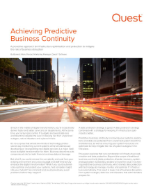 Achieving Predictive Business Continuity