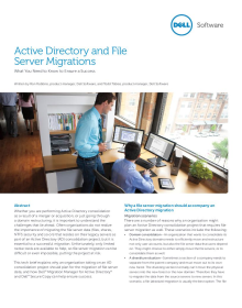 Active Directory and File Server Migrations