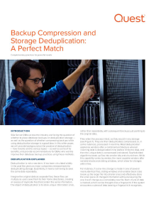 Backup Compression and Storage Deduplication - A Perfect Match?