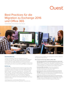 Best Practices für die Migration zu Exchange 2016 und Office 365
