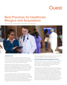 Best Practices for Healthcare Mergers and Acquisitions: How to restructure and modernize Active Directory and Exchange
