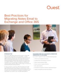 Best Practices for Migrating Notes Email to Exchange and Office 365
