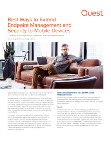 Best Ways to Extend Endpoint Management and Security to Mobile Devices