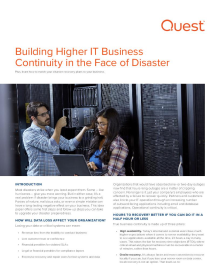 Ensure Business Continuity in the Face of Disaster