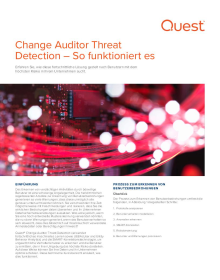 Change Auditor Threat Detection – So funktioniert es