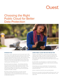 Choosing the Right Public Cloud for Better Data Protection