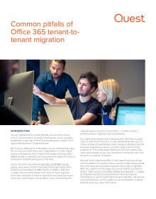 Office 365 tenant-to-tenant migration: Common pitfalls