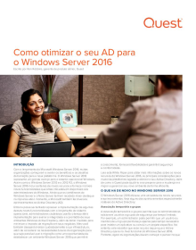 Como otimizar o seu AD para o Windows Server 2016