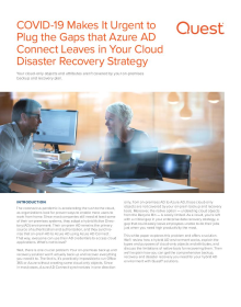 COVID-19 Makes It Urgent to Plug the Gaps that Azure AD Connect Leaves in Your Cloud Disaster Recovery Strategy