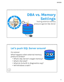 DBA vs. Memory Settings