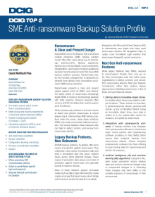 DCIG Names Quest NetVault Plus a Top 5 SME Anti-Ransomware Backup Solution