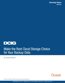 DCIG Report - Choosing the Best Cloud Storage for Data Protection