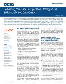 DCIG Paper: Rethinking Your Data Deduplication Strategy in the Software-defined Data Center