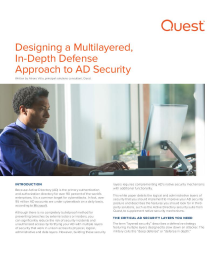 Designing a Multilayered, In-Depth Defense Approach to AD Security