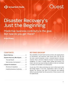 Disaster Recovery's Just the Beginning