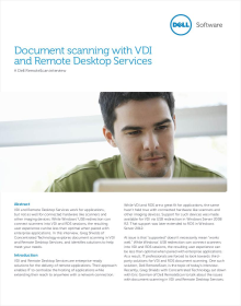 Document Scanning with VDI and Remote Desktop Services: A RemoteScan Interview