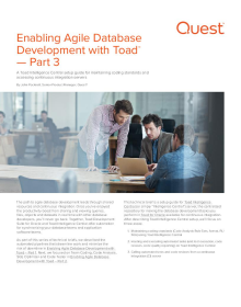 Agile Cookbook Part 3: Enabling Agile Database Development with Toad