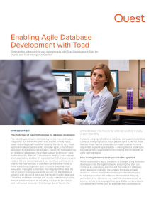 Agile Cookbook Chapter 1: Enabling Agile Database Development with Toad