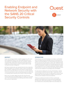 Enabling Endpoint and Network Security with the SANS 20 Critical Security Controls
