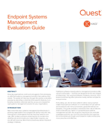 Endpoint Systems Management Evaluation Guide