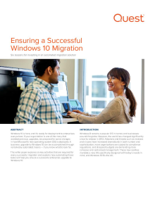 Ensuring a Successful Windows 10 Migration