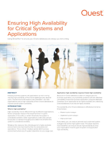 Ensuring High Availability for Critical Systems and Applications