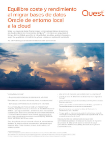 Equilibre coste y rendimiento al migrar bases de datos Oracle de entorno local a la cloud