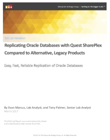 ESG Lab Report - SharePlex versus Legacy Replication Comparison