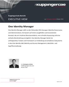 Executive View von KuppingerCole zu Identity Manager