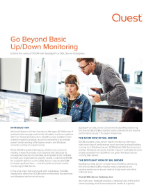 Go Beyond Basic Up/Down Monitoring with Spotlight on SQL Server