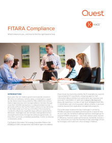 FITARA Compliance: What it Means to You, and How to Find the Right Tools to Help