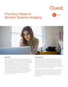 Five Easy Steps to Smarter Systems Imaging