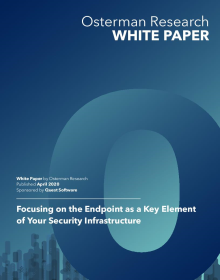 Focusing on the Endpoint as a Key Element of Your Security Infrastructure