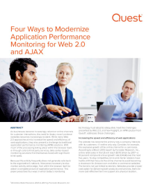 Four Ways to Modernize Your Application Performance Monitoring Strategy for Web 2.0 and AJAX