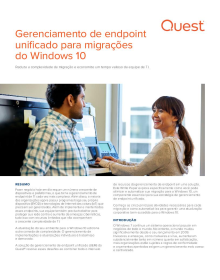 Gerenciamento de endpoint unificado para migrações  do Windows 10