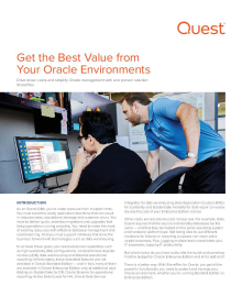Get the Best Value from Your Oracle Environments