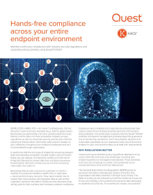 Hands-free compliance across your entire endpoint environment