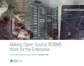 IDC InfoBrief: Making Open Source RDBMS Work for the Enterprise