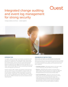 Integrated change auditing and event log management for strong security