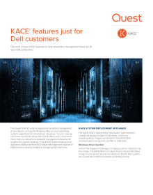 KACE®  features just for Dell customers